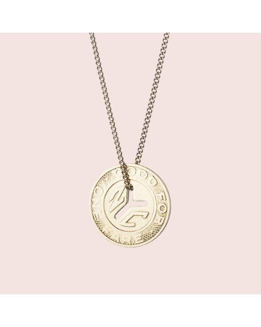 Erica Weiner - Metallic Ny Transit Token Necklace (large) - Lyst