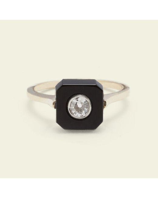 Erica Weiner - Black Onyx And Diamond Ring - Lyst