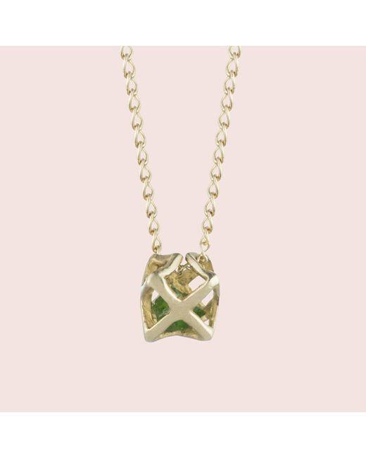 Erica Weiner - Metallic Caged Emerald Necklace - Lyst