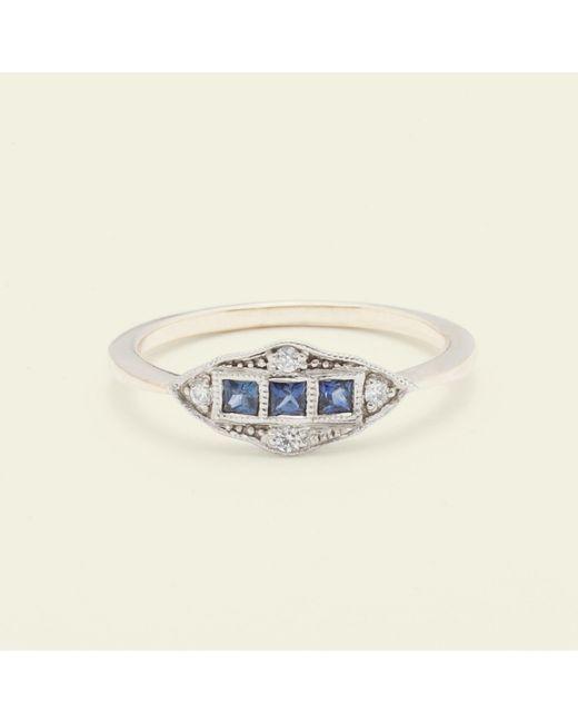 Erica Weiner | Metallic Machine Age Ring (sapphire) | Lyst