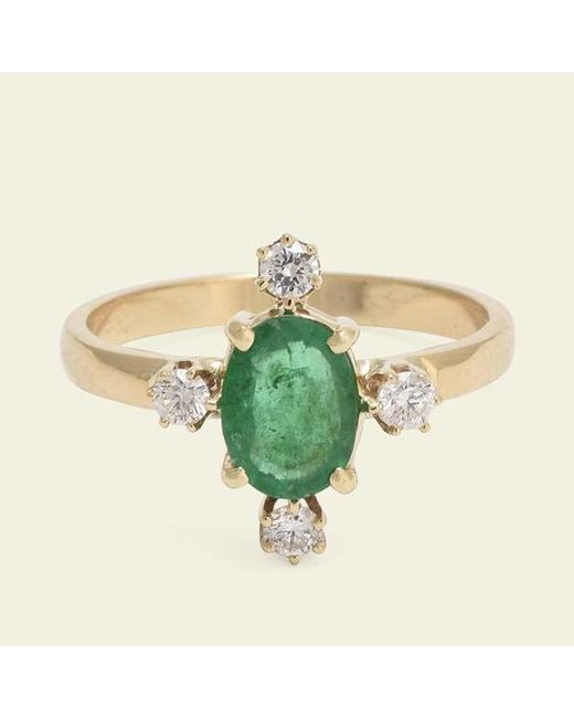 Erica Weiner - Multicolor Directional Ring (emerald) - Lyst