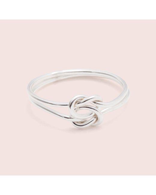 Erica Weiner - Metallic Lover's Knot Ring (silver / 14k White Gold) - Lyst