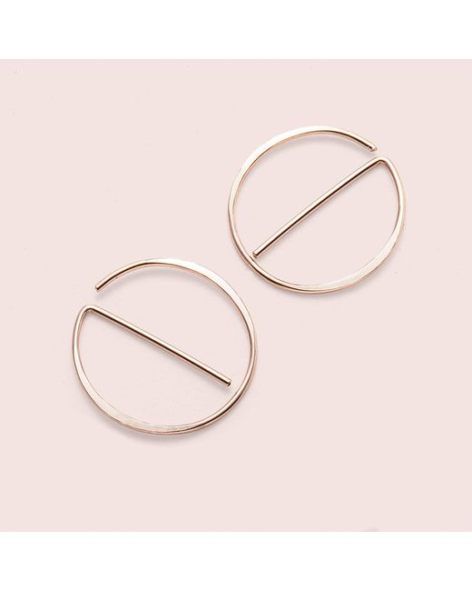 "Erica Weiner | Pink Universal ""no"" Earrings (rose Gold Fill) 