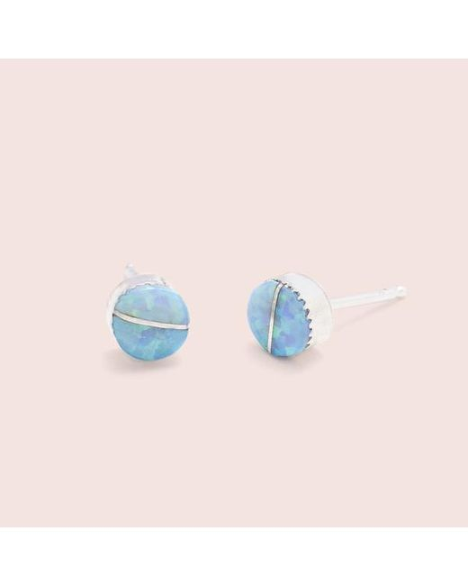Erica Weiner - Mother's Little Helper Earrings (blue Opal) - Lyst