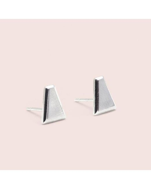 Erica Weiner - Metallic Tapered Baguette Studs (silver) - Lyst
