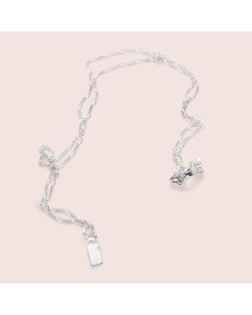 Erica Weiner - Metallic Pelvis Bone Necklace (silver) - Lyst