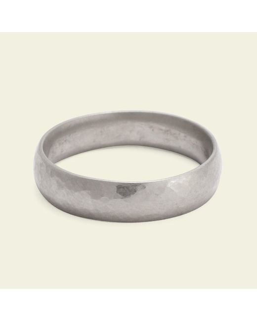 Erica Weiner | Metallic Hammered 5mm Recycled Gold Band | Lyst