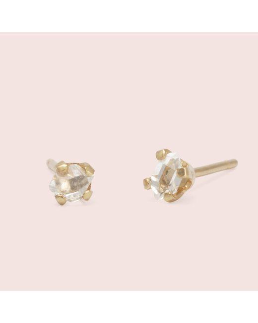 Erica Weiner - Pink Micro Herkimer Diamond Earrings - Lyst
