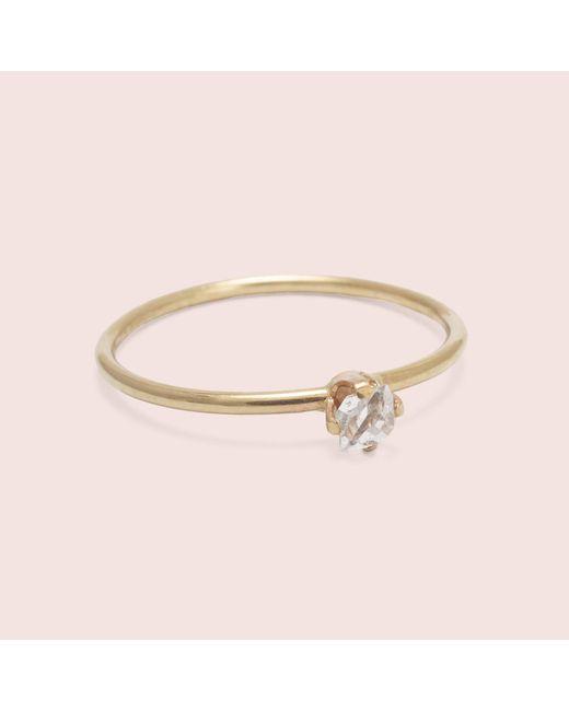Erica Weiner | Pink Micro Herkimer Diamond Solitaire Ring | Lyst