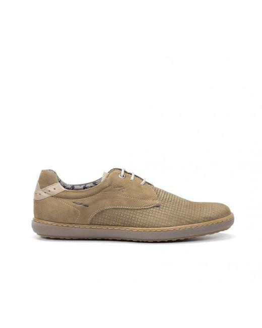 Zapatillas de piel Timor F0715 marrón, Piel Fluchos de hombre de color Multicolor