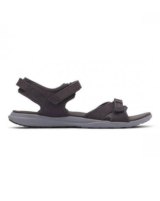 Sandalias de piel LE2 Columbia de color Black