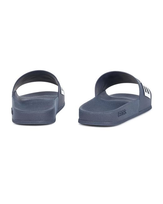 Chanclas Bay Slid rblg BOSS by Hugo Boss de hombre de color Blue