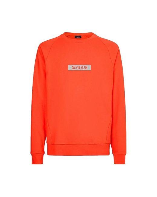 Sudadera de Felpa Algodón Calvin Klein de hombre de color Orange