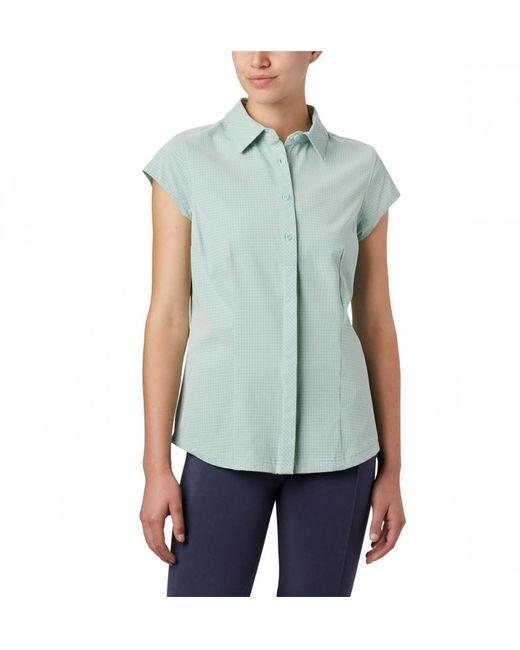 Camisa Saturday Trail II Stretch Print SS Columbia de color Green