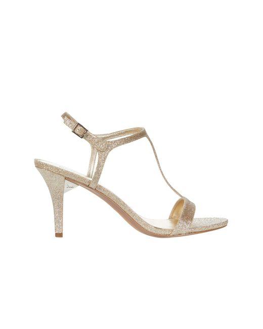Michael Kors Metallic Arden Glitter Heel Sandals