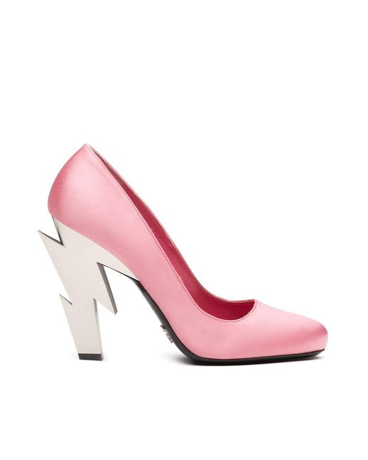 Prada Pink Thunder Heel Pumps
