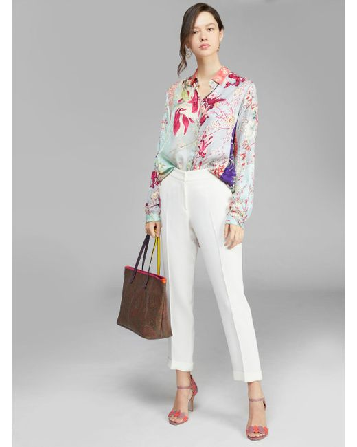 Etro Paisley Tote Bag With Multicolored Details