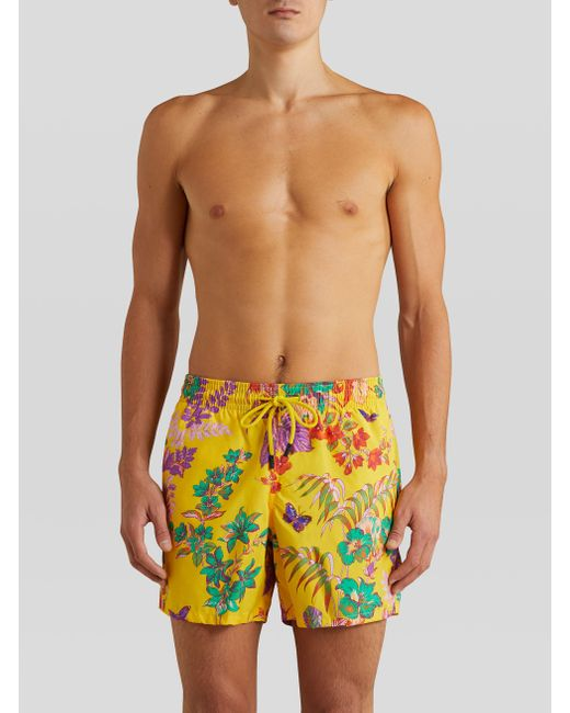 Bañador Con Flores Y Mariposas Etro de hombre de color Multicolor