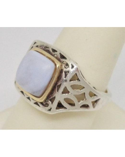 Etsy 14k Yellow Gold Sterling Silver Gray Jade Filigree Wide Ring