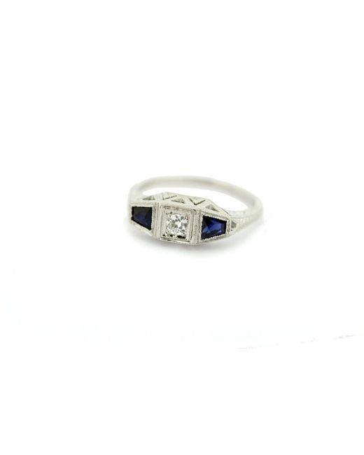 Etsy White 14k Gold Diamond & Hand Engraved Ring