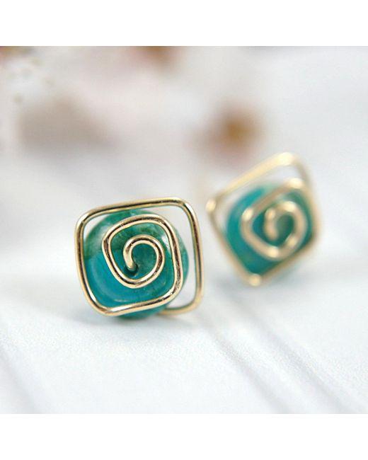 Round Magnesite Earrings