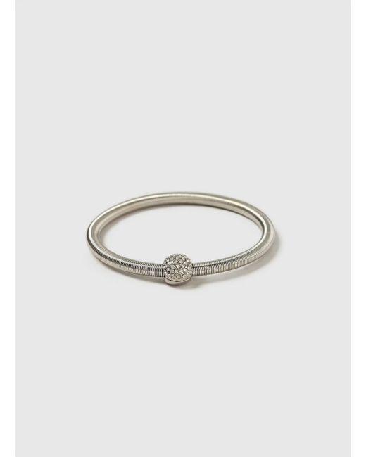 Evans - Metallic Sparkle Spring Bracelet - Lyst