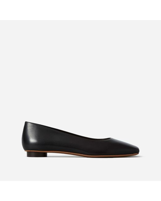 6e4fc81bb8b Everlane - Black The Square Toe Flat - Lyst ...