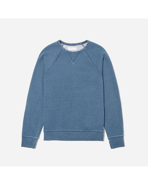 Everlane - Blue The Indigo French Terry Crew for Men - Lyst