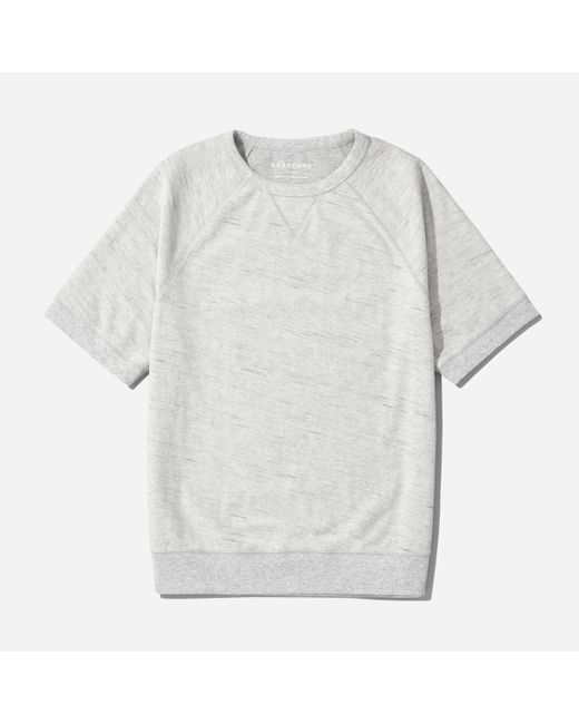 Everlane   Gray The Reverse French Terry Sweat Tee for Men   Lyst