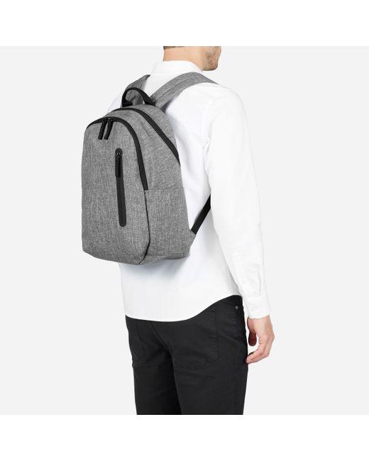 Mens nylon commuter backpack lightgrey light%20grey%20crosshatch b3846cd7