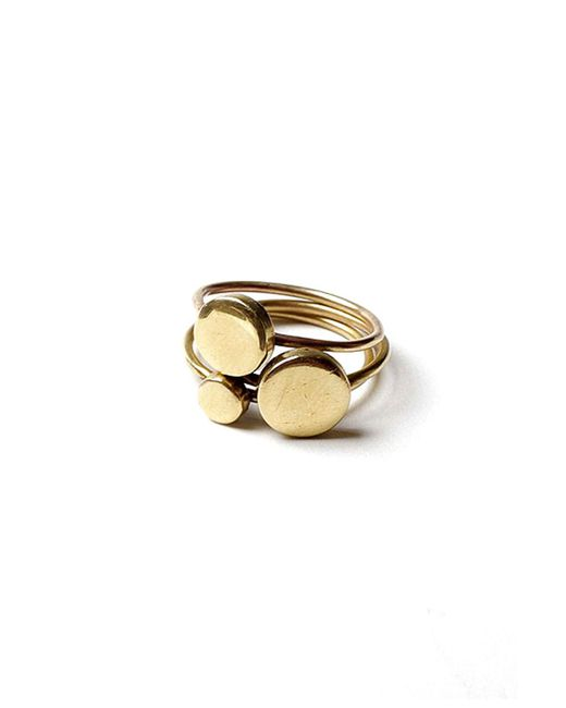 Winifred Grace | Multicolor Stackable Disc Rings | Lyst