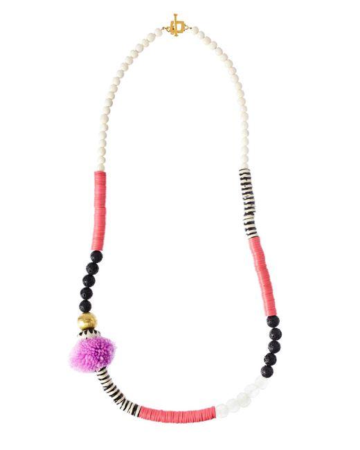 Theodosia   Purple Pompom Necklace   Lyst