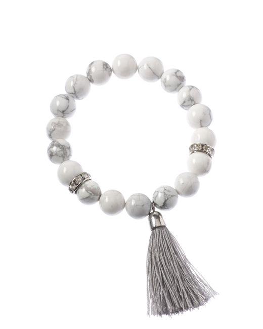 Cara Couture | White Tassel Stretch Bracelet | Lyst