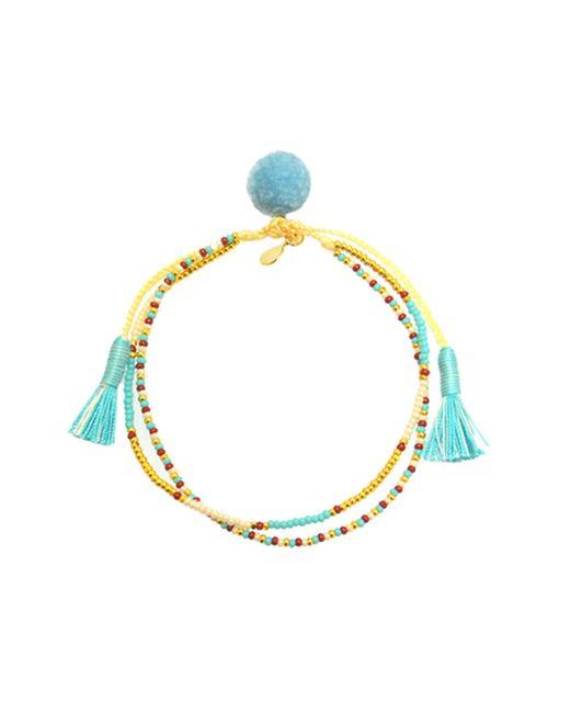 Tai | Metallic Beaded Tassel Bracelet | Lyst