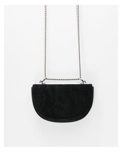 Express - Black Half Moon Chain Strap Cross Body Bag - Lyst