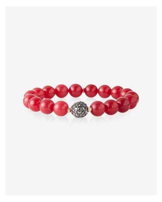 Express   Red Burgundy Beaded Stretch Bracelet   Lyst