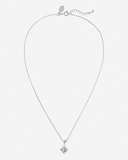 Express | Metallic 2-carat Cubic Zirconia Necklace | Lyst