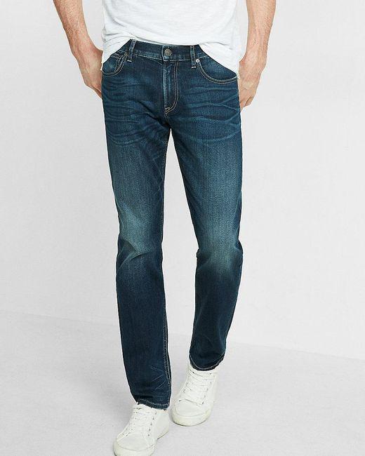 Express Eco-friendly Slim Fit Straight Leg Stretch Jeans ...