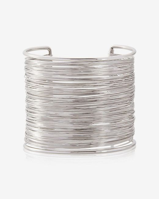 Express | Metallic Wrapped Metal Cuff Bracelet | Lyst