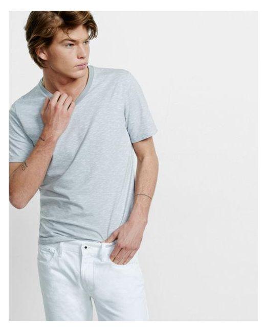Express | Gray Space Dyed Slub Knit Flex Stretch V-neck Tee for Men | Lyst