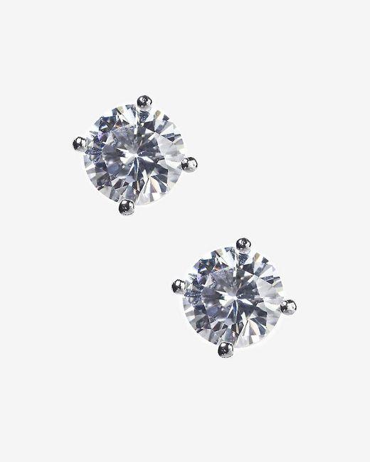 Express | Metallic Cubic Zirconia Stud Earrings | Lyst