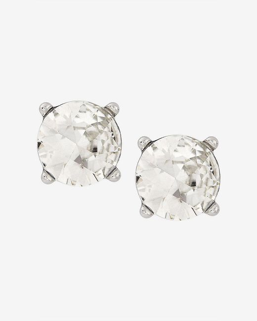 Express | Metallic Round Rhinestone Post Earrings | Lyst
