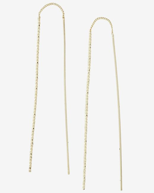 Express | Metallic Twisted Stick Pull Through Earrings | Lyst