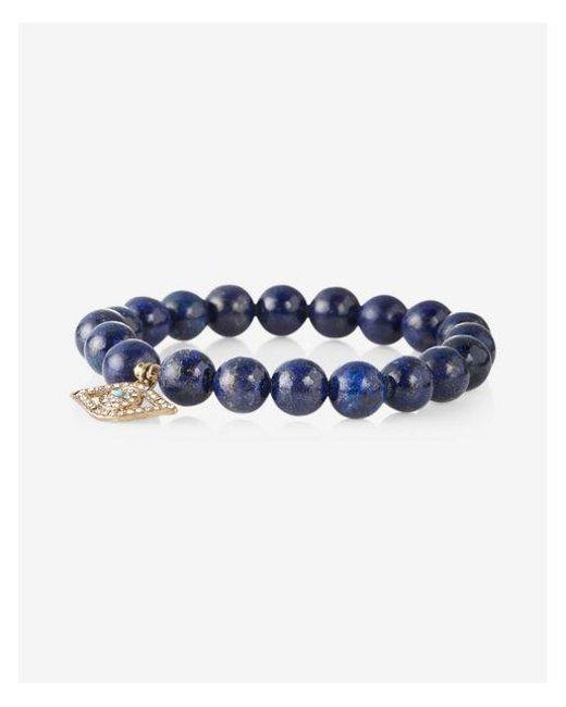 Express - Blue Evil Eye Beaded Stretch Bracelet - Lyst