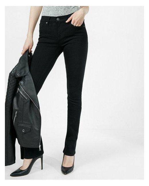Express - Black Mid Rise - Lyst