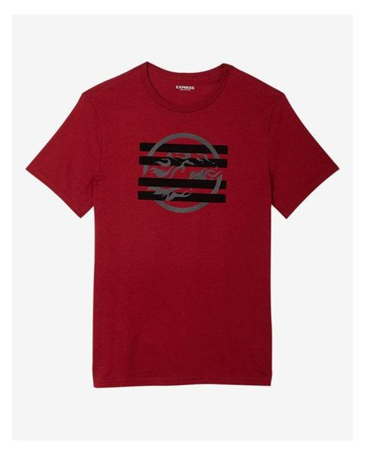 Express - Red Big & Tall Lion Graphic Tee for Men - Lyst