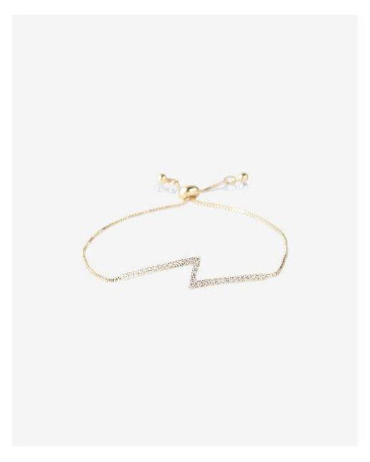 Express - Metallic Embellished Zigzag Pull-cord Bracelet - Lyst