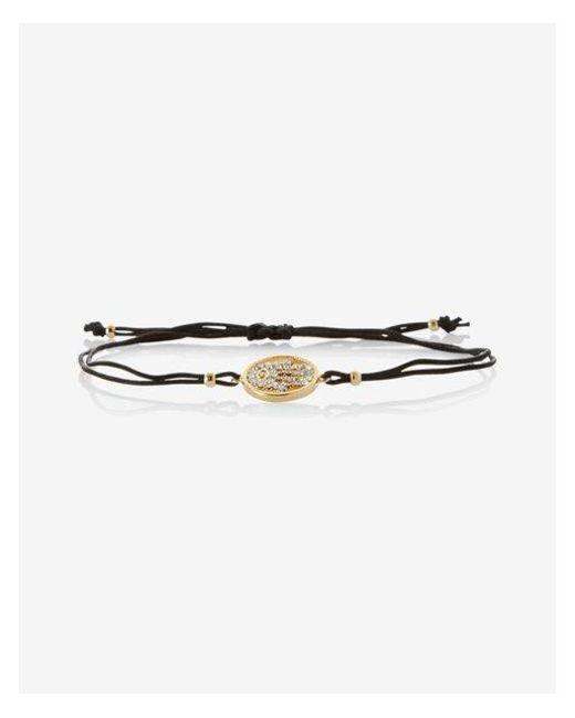 Express | Black Pave Hamsa Pull Cord Bracelet | Lyst