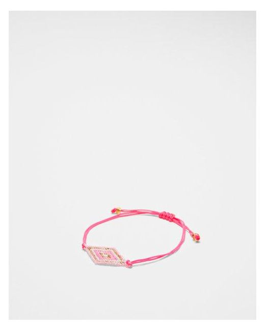 Express - Pink Beaded Pull-cord Bracelet - Lyst
