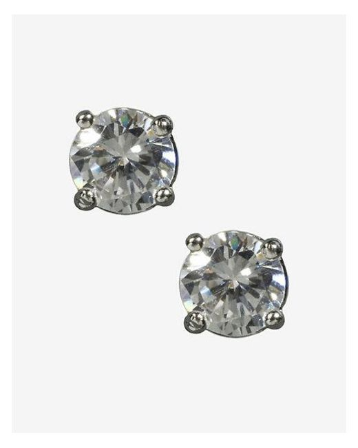 Express - Metallic Small Solitaire Earrings - Lyst